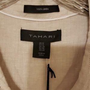 Tahari Tops - Taheri Linen top 1X